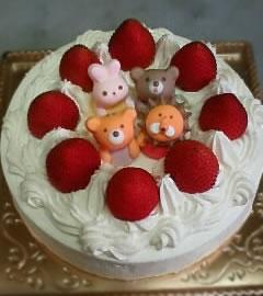 動物いっぱい ショートケーキ