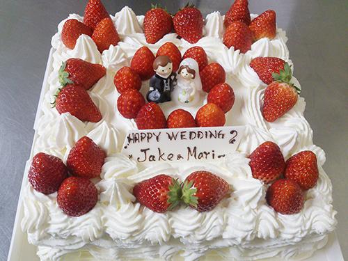 ウェディング ショートケーキ
