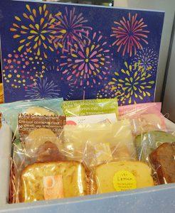 花火の焼き菓子パッケージ