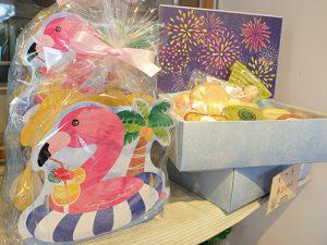 焼き菓子のパッケージ(フラミンゴ)