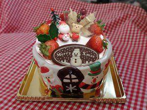 陶器のクリスマスケーキ